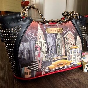 Nicole Lee TAXI GOES NEW YORK Handbag *NWT*